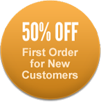 50% off first order